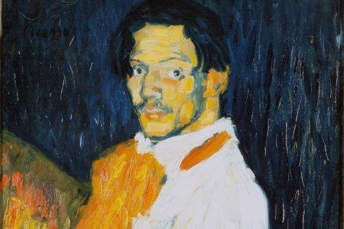 <i>Moi, Picasso</i>, auto-portrait, 1901.