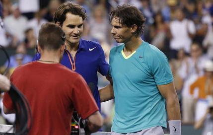 Nadal domine un Federer amoindri