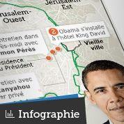 Les étapes de la visite d'Obama en Israël