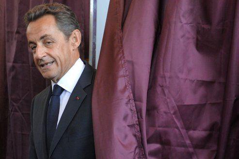 Nicolas Sarkozy lors du premier tour des élections législatives, en juin 2012.