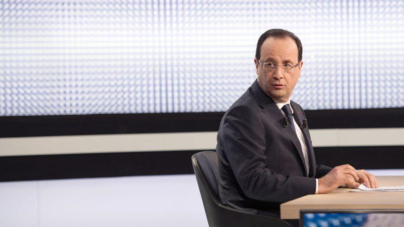 François Hollande, jeudi soir, sur France 2.