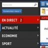 Sur un smartphone, le menu est accessible d'une simple pression du doigt sur l'icone Figaro. Il apparaît alors à gauche.