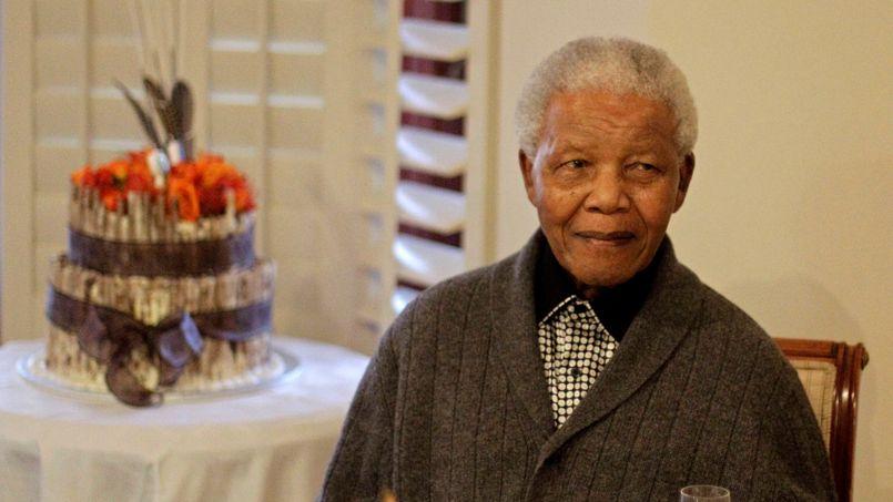 Nelson Mandela, à Qunu, le 18 juillet 2012, pendant la célébration de son 94e anniversaire.