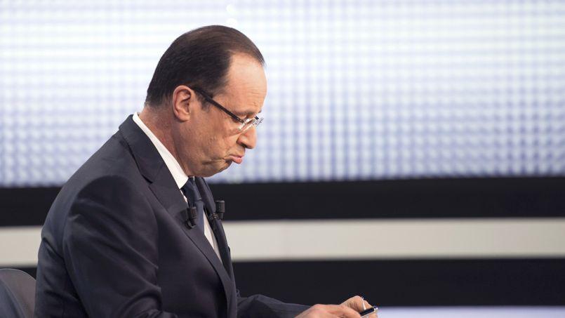 François Hollande, lors de son intervention télévisée, jeudi soir.