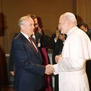 Gorbatchev et Jean-Paul II rencontre historique