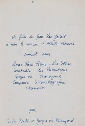La première page du manuscrit autographe du <i>Mépris.</i>