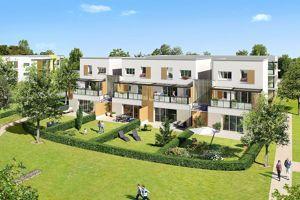 À Lyon-Meyzieu, Bouygues Immobilier a conçu la résidence Esprit Jardin. Composée de quatre bâtiments de deux étages, elle propose des appartements du 2 au 4 pièces dans un environnement paysager de plus d'un hectare.