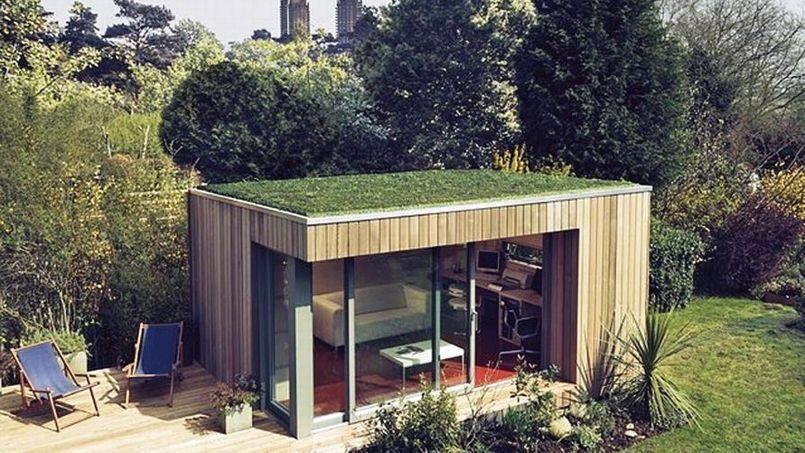 Installer un bureau dans son jardin s duisant mais compliqu - Mobil home dans son jardin ...