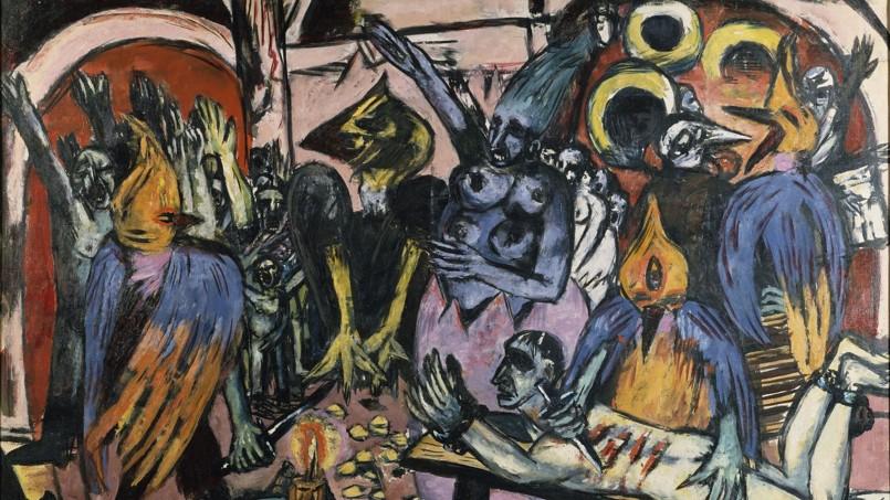 <i>L'enfer des oiseaux </i>(détail)<i></i>de Max Beckmann: les médias allemands voient dans cette œuvre une allégorie de la dictature nazie.