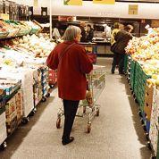 L'alimentaire en baisse dans les supermarchés