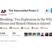 Un faux tweet d'AP fait plonger Wall Street
