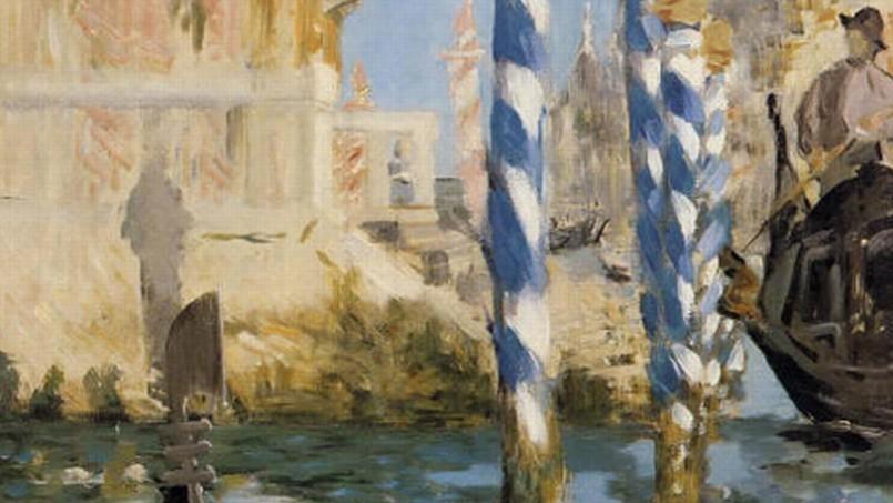 <i>Le Grand Canal à Venise</i> (détail), 1874, Édouard Manet.