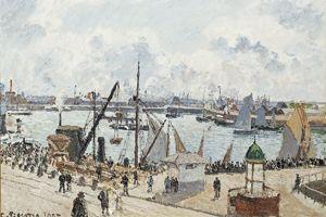 Le Havre. «L'Anse des Pilotes, Le Havre, matin, soleil, marée montante» de Camille Pissarro (1903).