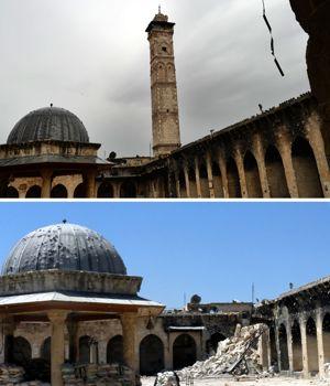 Le minaret d'Alep, aujourd'hui en ruines.