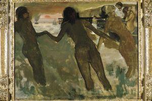 Caen. «Petites paysannes se baignant à la mer vers le soir» d'Edgard Degas (vers 1869-1875).