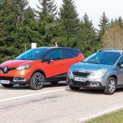 Peugeot 2008/Renault Captur, banc d'essai