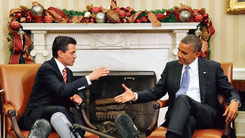 Le président mexicain, Enrique Peña Nieto, et Barack Obama le 27 novembre dernier à la Maison-Blanche.