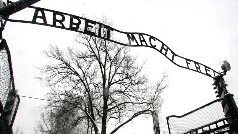 L'entrée du camp d'Auschwitz, en Pologne.