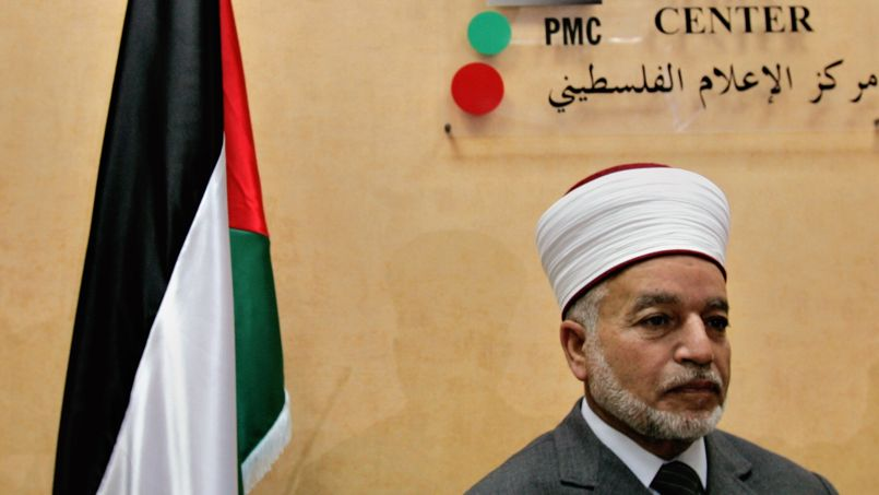 Le mufti Mohammed Hussein pendant une conférence de presse en septembre 2006 à Jérusalem-Est.