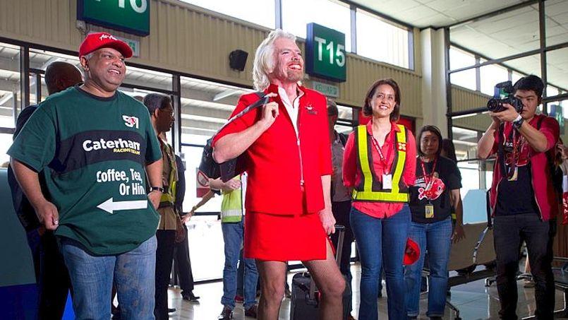 Le milliardaire à son arrivée à l'aéroport de Sepang (Kuala Lumpur), ce dimanche