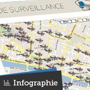 La carte des caméras de surveillance à Paris