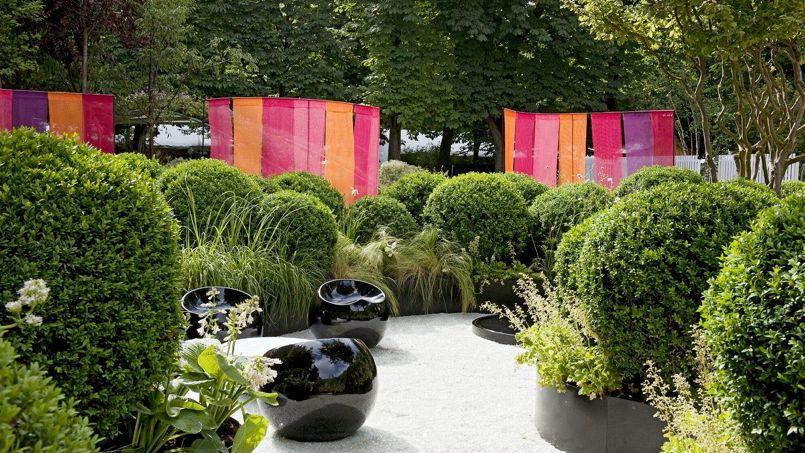 En 2012, pour <i>Le Figaro Magazine</i>, Christian Fournet avait créé un jardin tout en rondeur.
