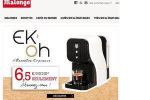 La machine à café de Malongo proposée à la location.