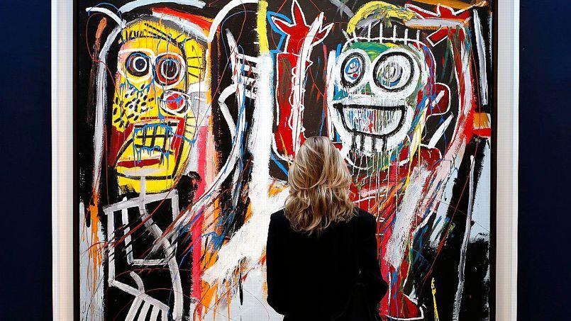 Mi-mai à New York, les ventes d'art contemporain ont atteint des sommets. Ce tableau de Jean-Michel Basquiat est parti à 48,8 millions de dollars.