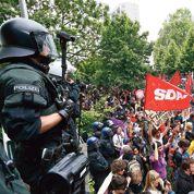 Francfort : manif anti-austérité devant la BCE