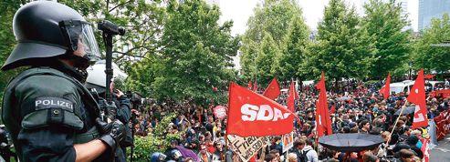 Manifestation anti-austérité devant la BCE à Francfort