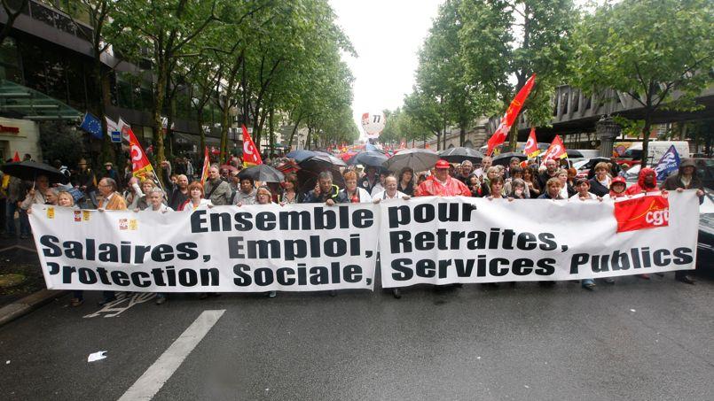 Manifestation contre la réforme des retraites, en mai 2010, à Paris.
