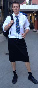Martin Akersten en uniforme.