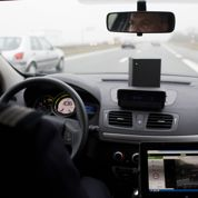 Le radar mobile mobile en pleine action
