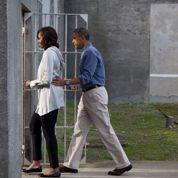 En pèlerinage, Obama fait des promesses