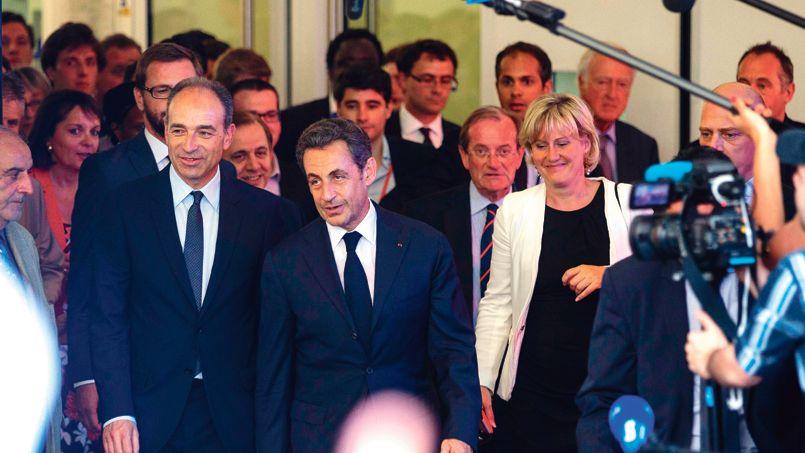 Nicolas Sarkozy, au siège de l'UMP, à Paris, lundi 8 juillet.