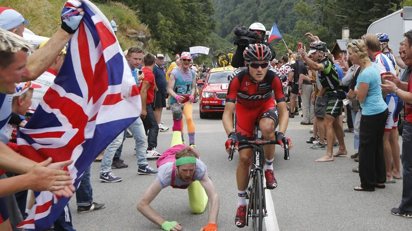 Guy tripped at Tour de France