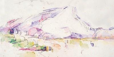 <i>La montagne Sainte-Victoire vue des Lauve</i>s, de Paul Cézanne.