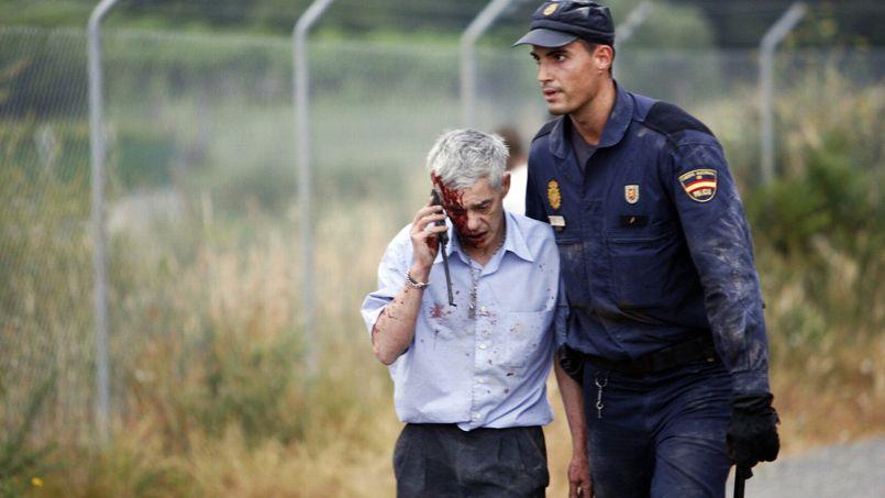Francisco José Garzón, escorté après l'accident