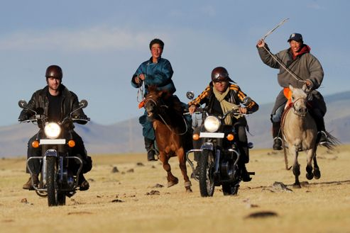 À moto chez Gengis Khan