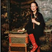 Diana Vreeland et ses bagages Louis Vuitton