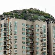 Pékin: une «colline» au sommet d'un gratte-ciel