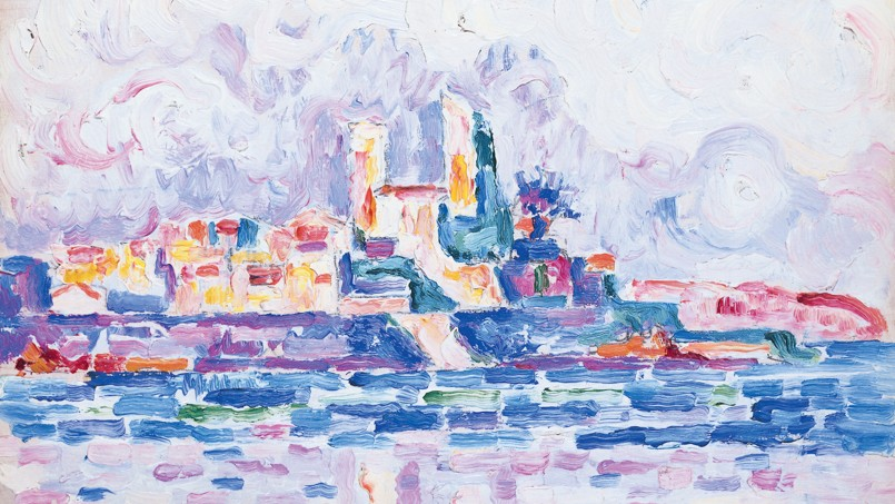 <i>Antibes. Couchant rouge</i> (1918-1919), de Paul Signac.