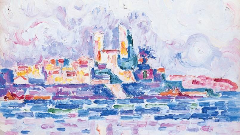 <i>Antibes. Couchant rouge</i> (1918-1919), de Paul Signac.