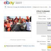 Florange: la stèle de Hollande sur eBay