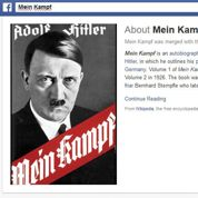 Facebook retire Mein Kampf de sa liste