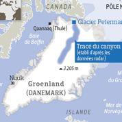 Un canyon géant sous les glaces du Groenland