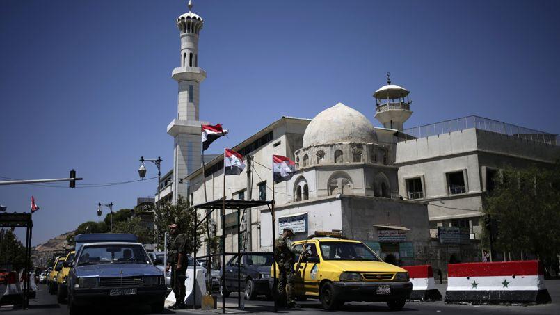 Le 21 août dernier, à un contrôle de l'armée à Damas.