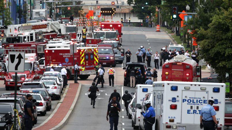 Les lieux de la fusillade lundi à Washington.