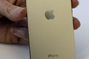 Le nouveau dos, doré, de l'iPhone 5s.