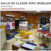 À vendre: salle de classe avec mobilier